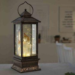 lantern led snow