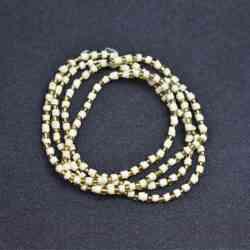 tulsi golden beads mala