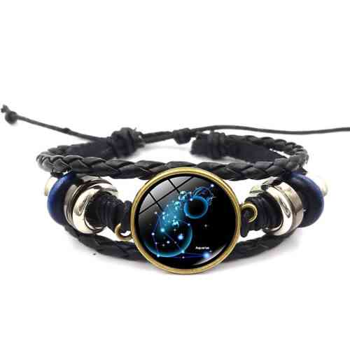 Aquarius Leather Bracelet