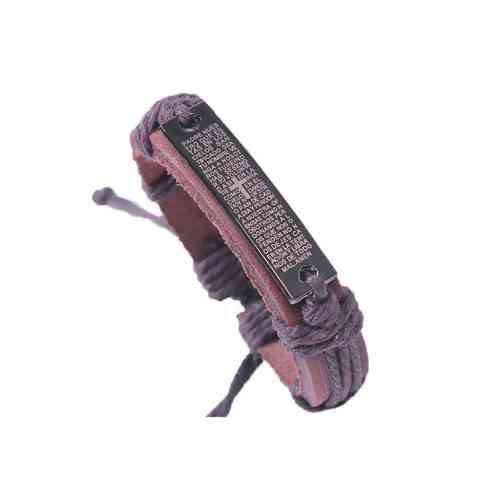 Bible Leather Bracelet