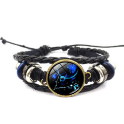 Pisces Leather Bracelet