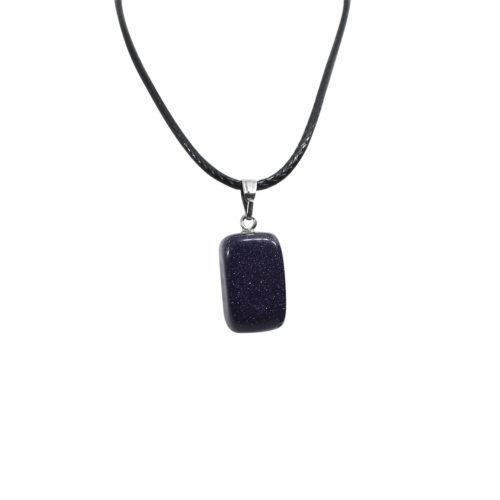 blue glitter stone locket