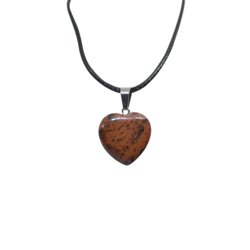 brecciated heart pendant