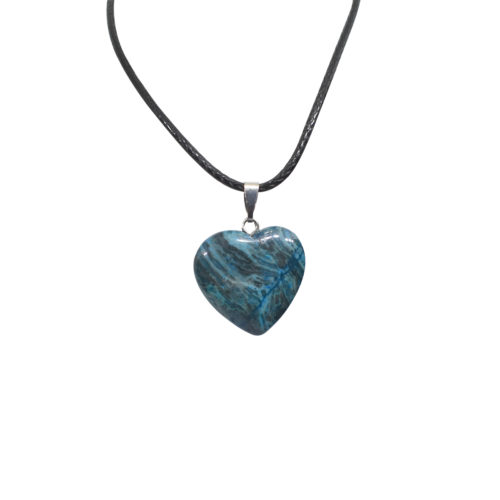 blue onyx heart pendant