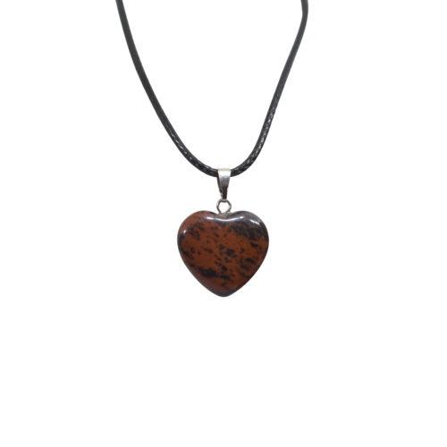 brecciated jasper heart pendant