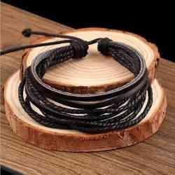 black multilayer bracelet