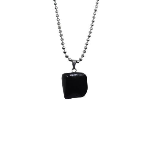 black onyx stone pendant
