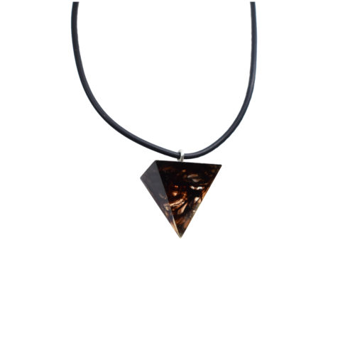 crystal brown pyramid pendant