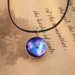crystal glass galaxy pendant