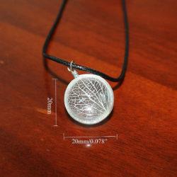crystal glass tree pendant