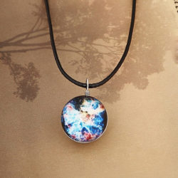 crystal glass universe pendant