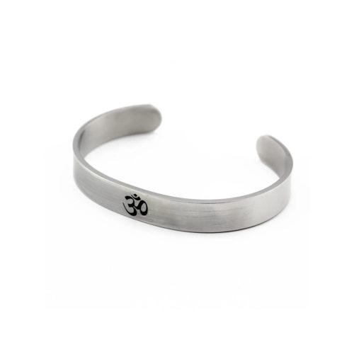 om silver bracelet