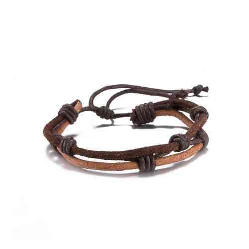 rope leather bracelet