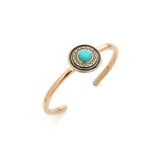 turquoise stone golden bracelet