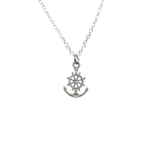 anchor wheel charm pendant