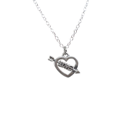 arrow heart charm pendant