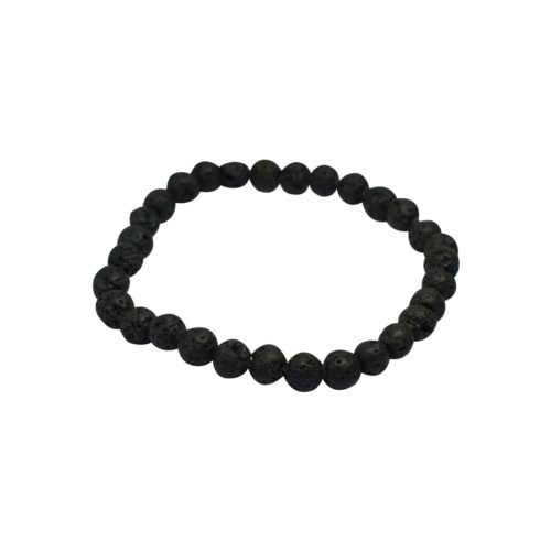 black rough stone bracelet