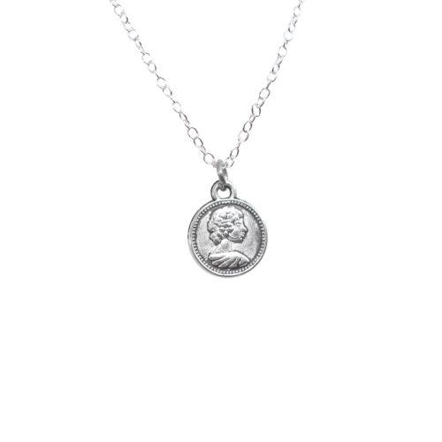 coin face lucky charm pendant