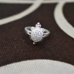 crystal tortoise ring