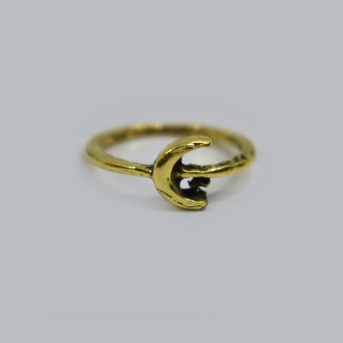 Moon Phase Brass Ring
