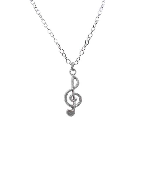 musical note charm locket