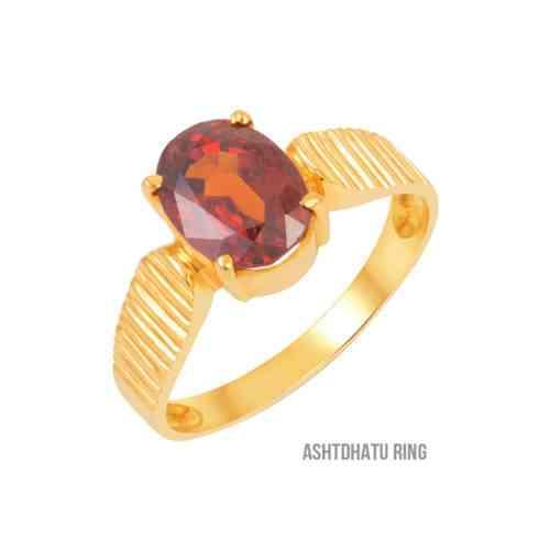 gomed gemstone ring