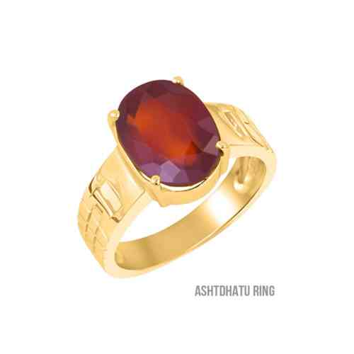 certified hessonite ring