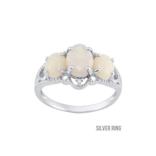 Certified Ethiopian Opal Ring