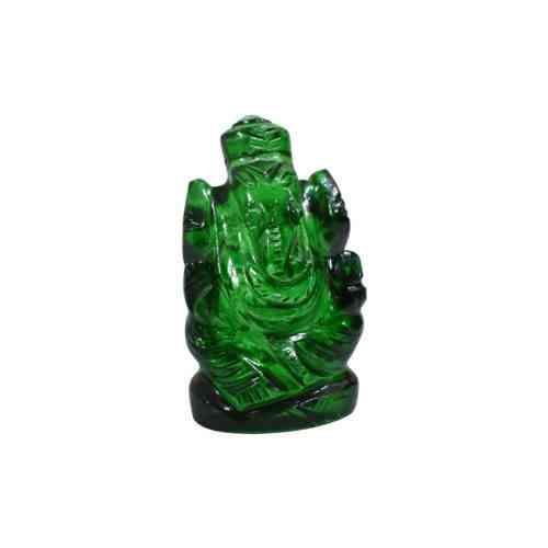 green crystal ganesha