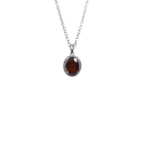 hessonite stone pendant