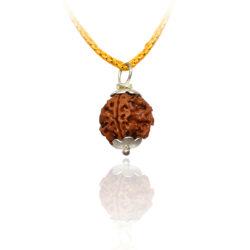 4 mukhi rudraksha pendant