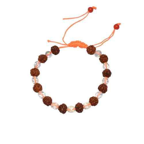 Original Rudraksha Crystal Bracelet