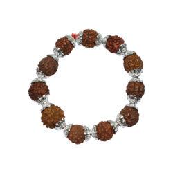 Rudraksha Silver Bracelet