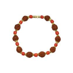 Stylish Rudraksha Munga Bracelet