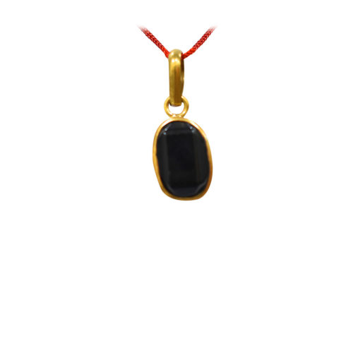 Black Hakik Pendant