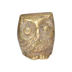 Brass Owl Statue