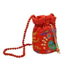 Jaipuri Red Potli